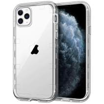 """iPhone 11 Pro Max Case, Anuck Crystal Clear Heavy Duty Defender Phone Case 3 Layer Shockproof Full-Body Protective Case Hard PC Shell & Soft TPU Bumper Cover for iPhone 11 Pro Max 6.5"""" 2019 - Clear"""