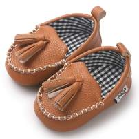 TIMATEGO Baby Boys Girls Loafers Shoes Slip On PU Leather Moccasin Sneaker Infant Toddler First Walker Dress Oxfords Crib Shoes(3-18 Months)