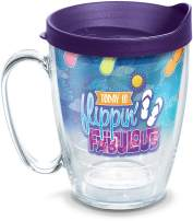 Tervis Flippin Fabulous Insulated Tumbler with Wrap and Lid, 16 oz Mug - Tritan, Clear