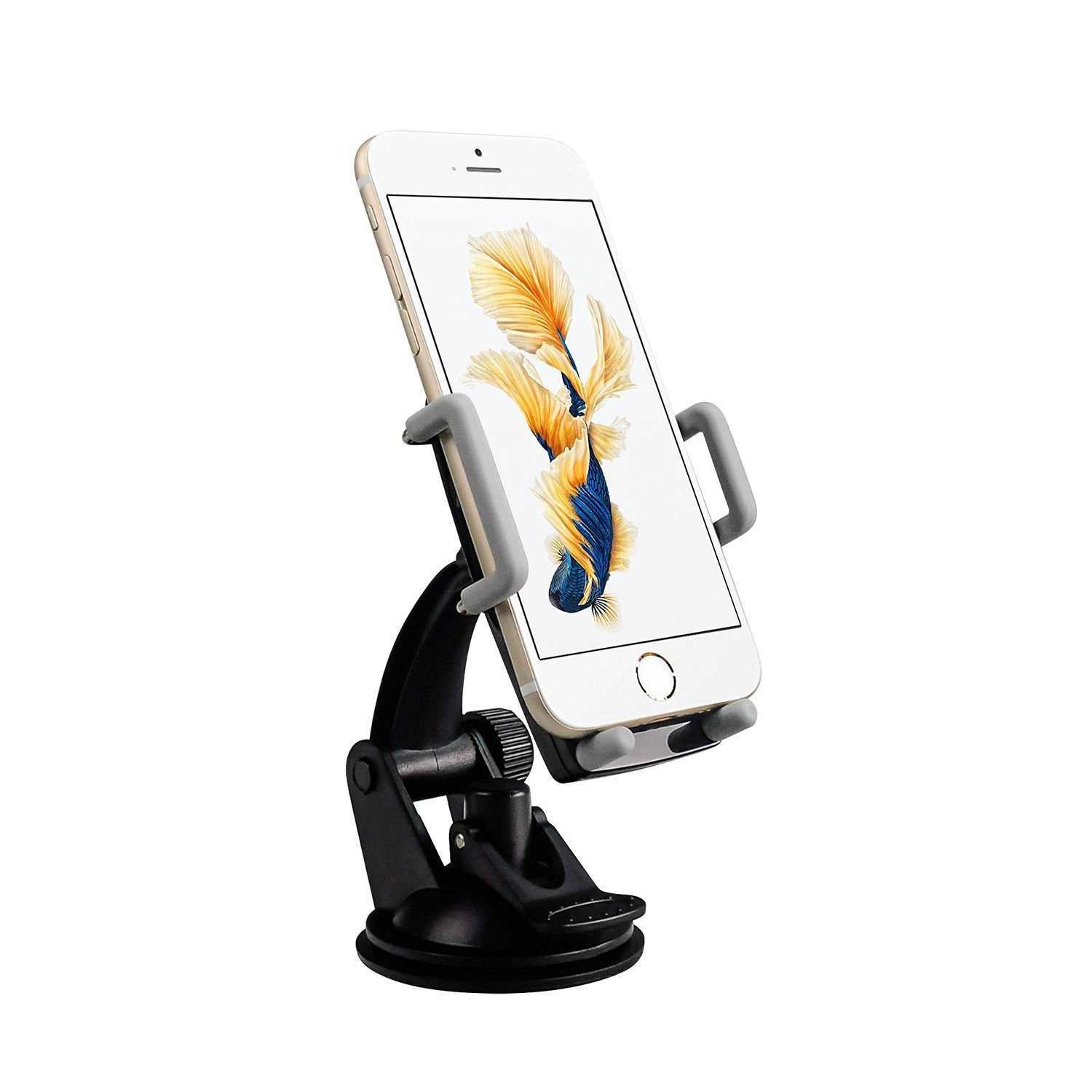 Pawtec Smartphone Car Mount Windshield Dashboard 360 Degree Adjustable for iPhone Android
