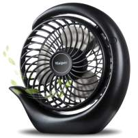 viniper Battery Operated Fan, USB Desk Fan : 180° Rotation and 3 Speeds Strong Wind Portable Quiet Fan, Optimised Battery & Longer Working Hours, Small but Mighty, Strong Cooling (6.2 inch, Black)