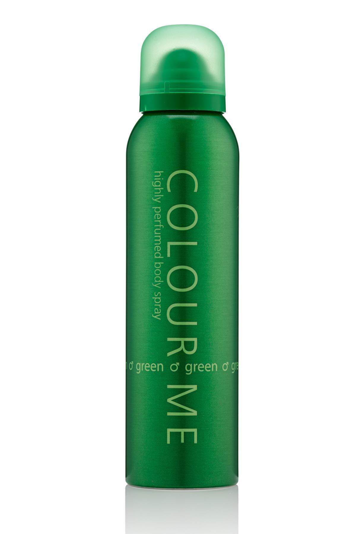Colour Me | Green | Body Spray | Fragrance for Men | Oriental Fougere Scent | 5.1 oz