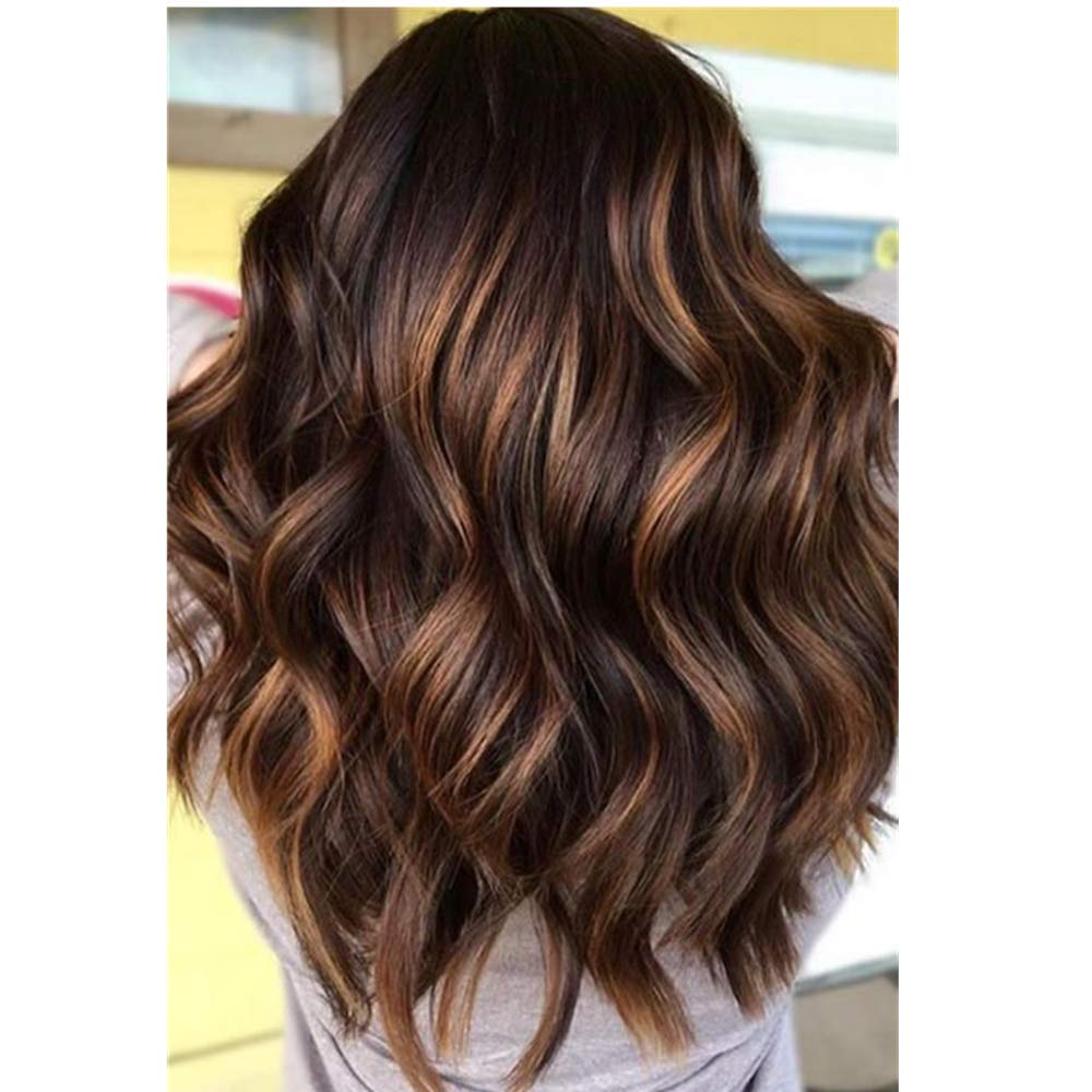 FENJUN Full Lace Human Hair Wigs for Black Women Ombre Wig with Baby Hair Two Tone 1B/33 Highlight 30 Color 14 Inch Body Wave Hair Pre plucked and Bleached Knots 150% Density Wet Wavy Wig Free Part