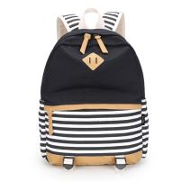 Upgraded Canvas School Backpack for girls Middle or College, Casual Lightweight Laptop Backpack for girls teen fit 15.6 inch