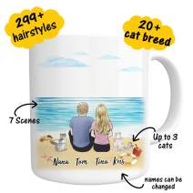 Custom Cat Mug Personalized Gift for Friend - Pet Name & Photo Coffee Mug - Perfect Gift Idea Funny Pet Customizable Coffee Cup for Birthday Christmas Fur Mom Dad Gifts From Cat Lover 11oz(couples)