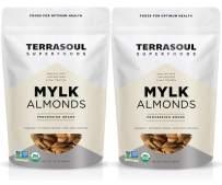 Terrasoul Superfoods Raw Unpasteurized Organic Almonds (Mylk Grade), 4 Pounds
