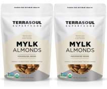 Terrasoul Superfoods Raw Unpasteurized Organic Almonds (Mylk Grade), 4 Pounds