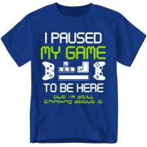 I Paused My Game to Be Here Gamer T Shirt, Funny Paused Game Video Gamer Tshirt