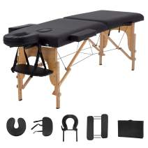 """Massage Table Massage Bed Spa Bed 73"""" Long 2 Folding Portable Massage Table W/Carry Case Heigh Adjustable Salon Bed Face Cradle Bed"""