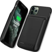 NEWDERY Battery Case for iPhone 11 Pro Max, 10000mAh Portable Protective Charging Case Extended Rechargeable Battery Power Bank for 6.5 Inch iPhone 11 Pro Max (Black)