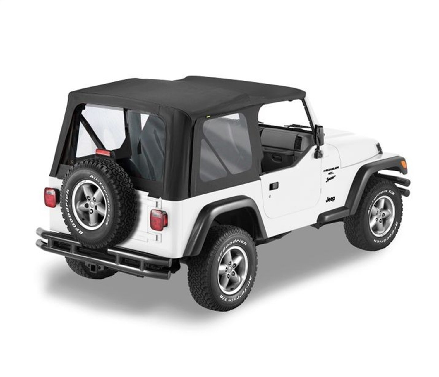 Bestop 7912201 Black Sailcloth Replace-A-Top for 1997-2002 Wrangler TJ