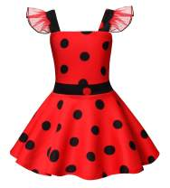 HenzWorld Polka Dots Girls Costume Dress Princess Birthday Theme Party Cosplay Playwear Outfit 1-10 Years