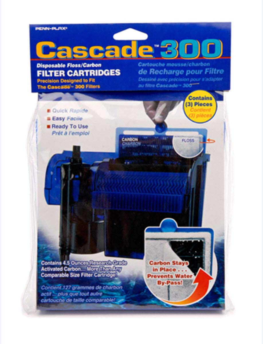 Penn Plax Cascade Hang-on Power Filter Replacement Cartridges - Three Pack - CPF5C3