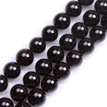 GEM-Inside Natural 14mm Garnet Gemstone Stone Beads Round Dark Red Crystal Energy Stone Power for Jewelry Making 15""