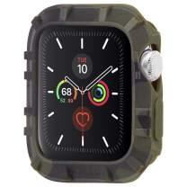 Pelican - Protector Series - Bumper for 42-44mm Apple Watch Series 1/2/3/4/5 - Camo Green