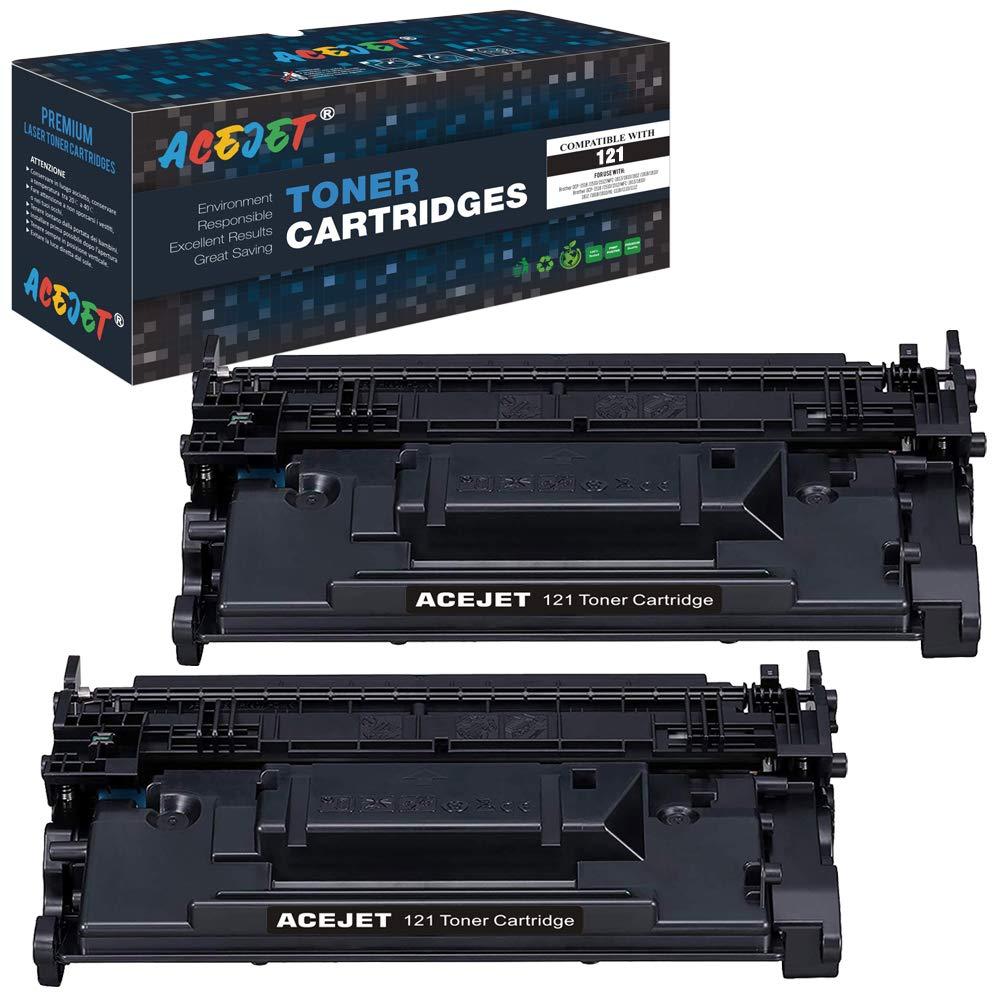 ACEJET Compatible Canon 121 Black Toner Cartridge Replacement for Canon CRG 121 (3252C001) Toner Cartridge for Use in Canon imagelass D1620 Canon imagelass D1650 Laser Printers (Black 2-Pack)