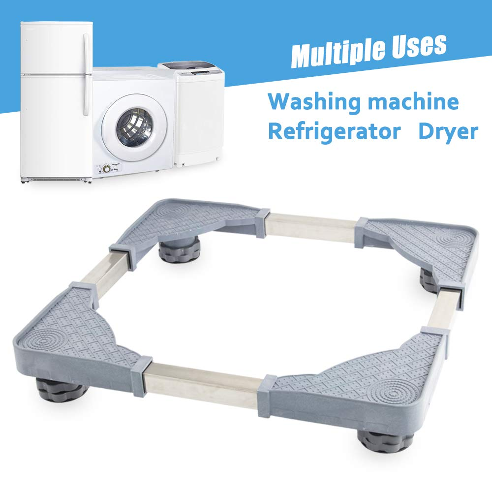 Washing Machine Base with 4 Strong Feet for Washer Dryer Washer Refrigerators Universal Stand Portable Stand
