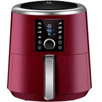 OMORC Air Fryer, 6 Quart XXL 1800W Fast Hot Air Fryers & Oilless Cooker w/Presets, LED Touchscreen (for Wet Finger) Grill/Roast/Bake/Keep Warm Suitable for Dishwasher Nonstick(Come with COOKBOOK)