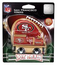 MasterPieces NFL San Francisco 49ers Real Wood Toy Train, For Ages 3+