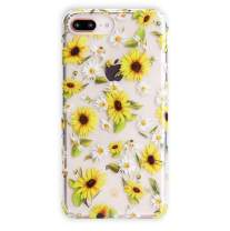 Velvet Caviar Compatible with iPhone 7 Plus Case & iPhone 8 Plus Case Sunflower Daisy for Women & Girls - Cute Clear Protective Phone Cases (Yellow Floral)