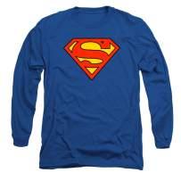 Superman Classic Logo Long Sleeve T Shirt & Stickers