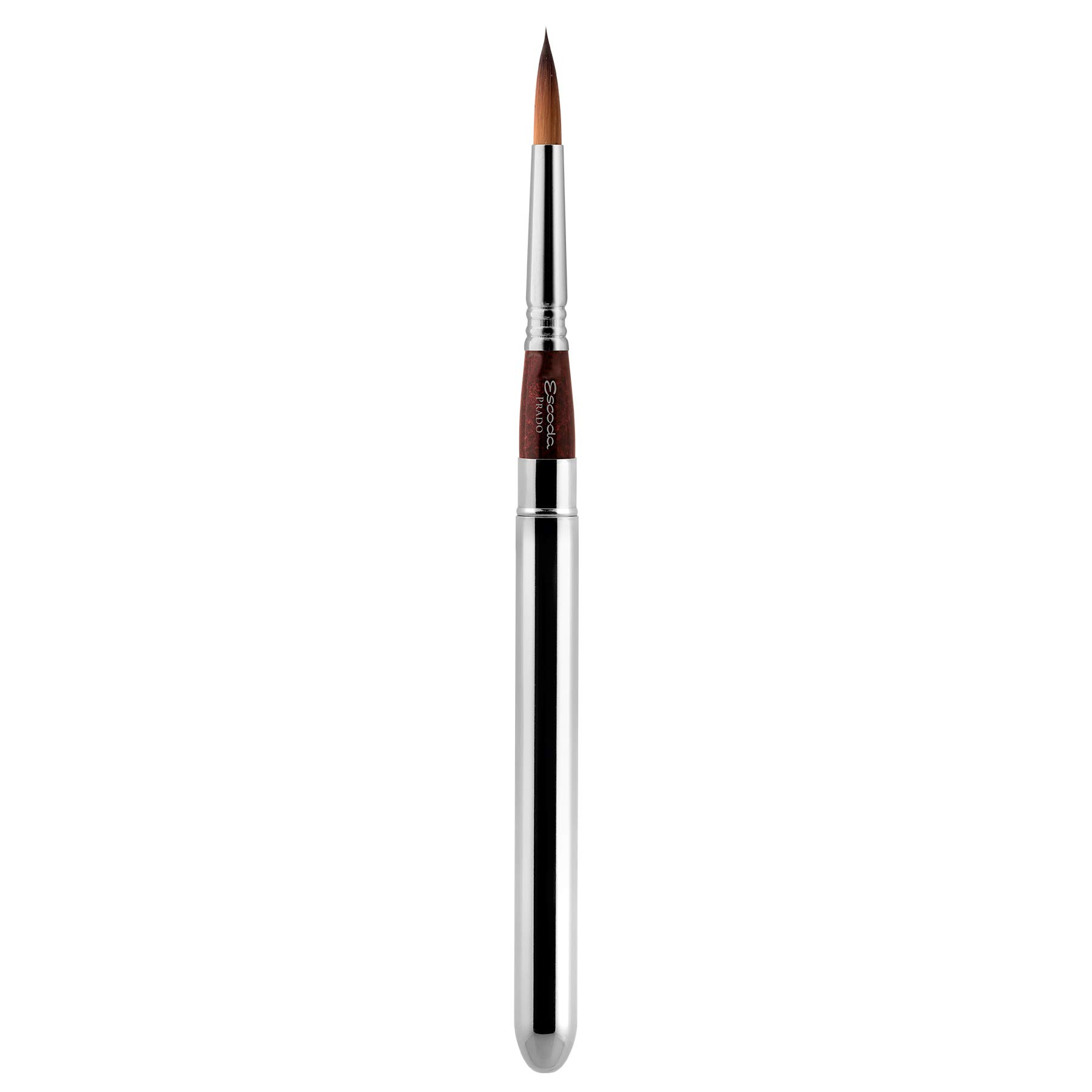 Speedball Art Products 1468-4 Escoda Prado Series Artist Watercolor & Acrylic Short Handle Travel Paint Brush, Size 4, Synthetic Sable