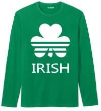 Arvilhill Men's St Patrick's Day Green Long Sleeve Shirt