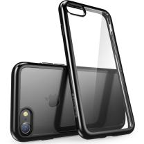 i-Blason Halo Series Case Designed for iPhone SE 2020/iPhone 7/iPhone 8, [Scratch Resistant] Clear Case for iPhone SE (2020)/ iPhone 8/ iPhone 7 4.7 inch (Clear/Black)