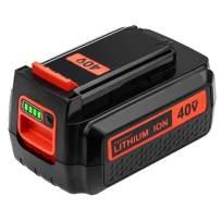 Upgraded 3000mAh 40 Volt MAX Replacement Battery for Black and Decker 40V Battery LBX2040 LBXR36 LSW36 LBXR2036 LBX2540 LST540 LCS1240 LBX1540 LHT2436 LST136W Black+Decker 40-Volt Lithium Battery