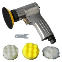 PROSHI 3-Inch Mini Air Polishing Kit 3-Inch Mini Polisher with the sanding pad and form pad and wool buffing