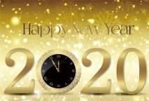 AOFOTO 6x4ft Champagne 2020 New Year Backdrop Glitter Dots Snowflakes Golden Clock Sparkle Bokeh Orange Background for Photography Family Festive Party Kids Baby Portrait Photo Studio Props Vinyl