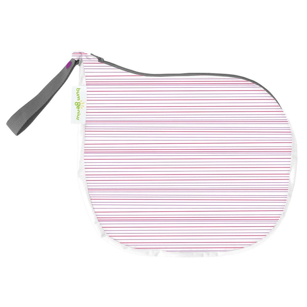 bumGenius Outing Wet Bag - Holds 3 to 5 Cloth Diapers (Girl Stripe)