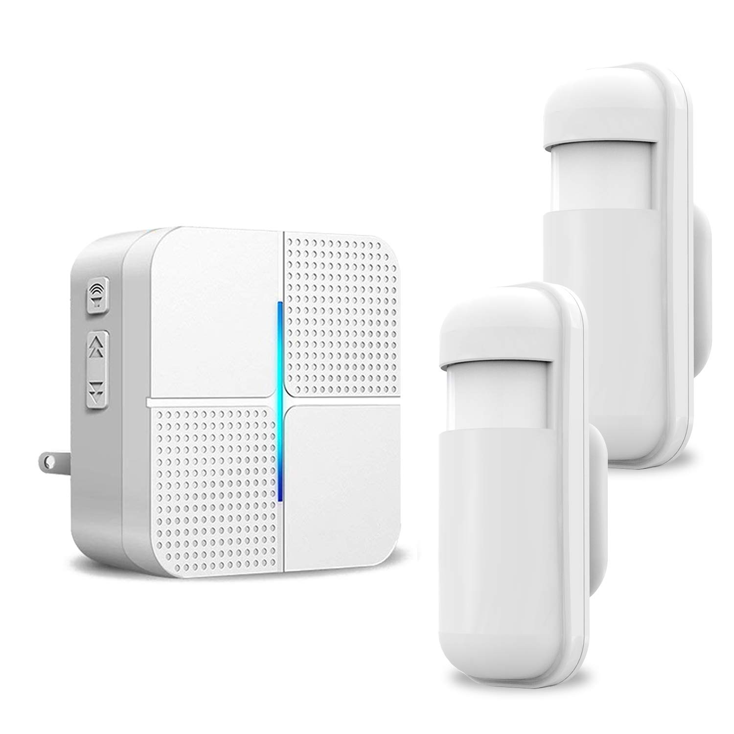 Motion Sensor Driveway Alarm Detector – JOYSAE Wireless Security Driveway Chimes Home Security Alert System Infrared Protect Home Store Safety 1-2