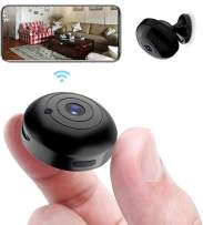 OUCAM Mini WiFi Spy Camera 1080P Audio and Video Recording Live Feed, Wireless Hidden Spy Cam Nanny Camera/Auto Night Vision/No Light Night Vision/Motion Activated Alarm(2021 Upgraded Phone APP)