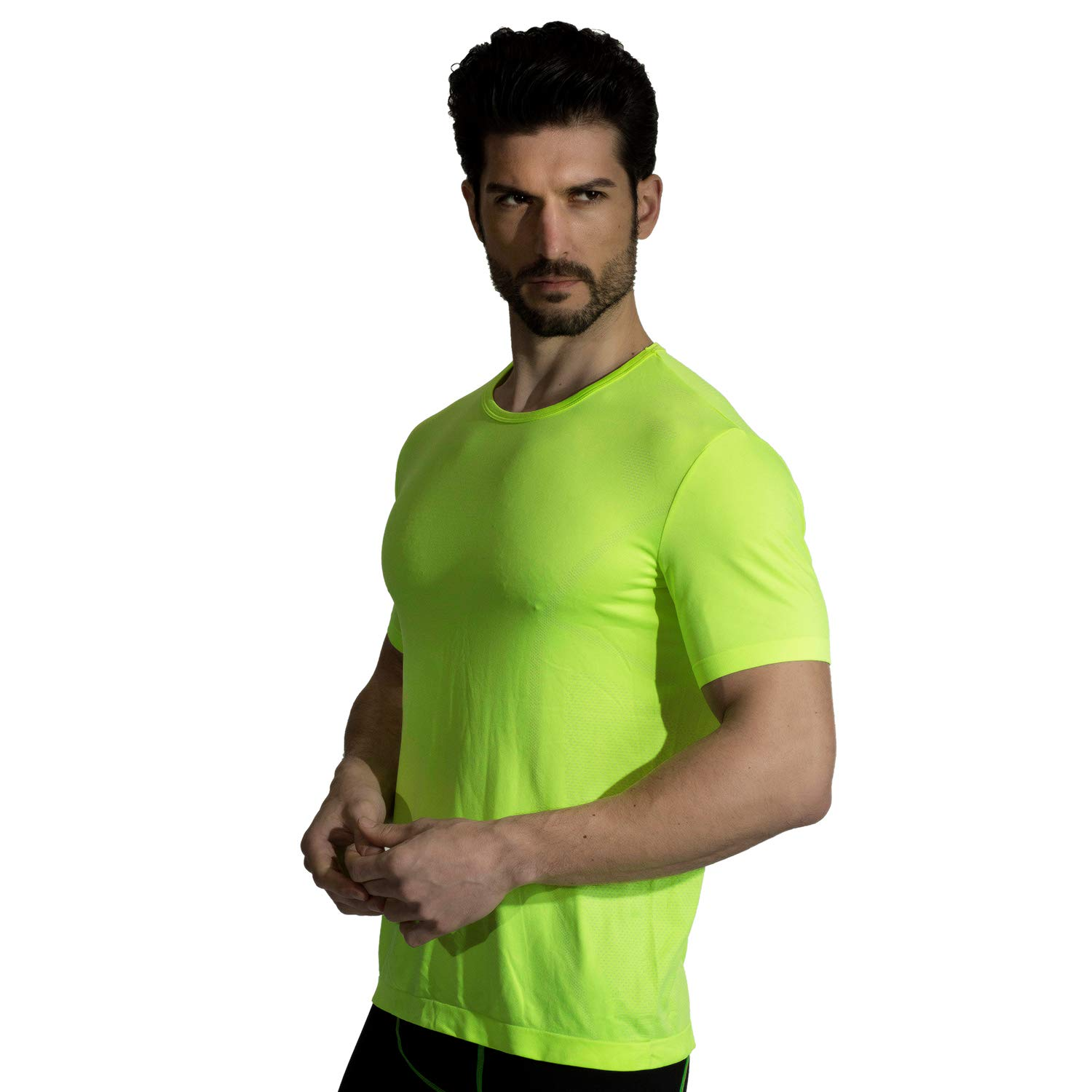 +MD Mens Cool Dry Short Sleeve T-Shirts Moisture Wicking Athletic Graphic T Shirts Crew Neck Workout Shirts