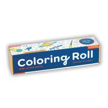 Mudpuppy Outer Space Coloring Roll – Age 3+ - 10 Feet of Creative Coloring Fun – Includes 6 Crayons – Space Paper Roll Easy to Store, Take on The Go – Great for Individual or Group Coloring
