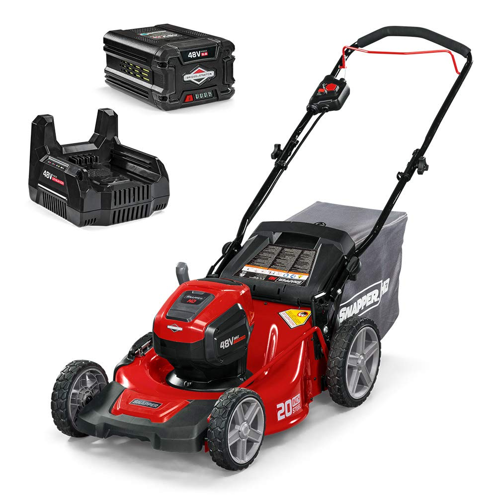 Snapper HD 48V MAX Cordless Electric 20-Inch Lawn Mower Kit with (1) 5.0 Battery and (1) Rapid Charger