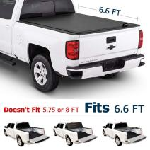Leader Accessories Tri-Fold 6.6ft Tonneau Truck Bed Cover Compatible with 2014 - Now Chevy Silverado GMC Sierra Trucks Styleside Short Bed