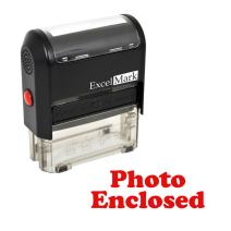 Photo Enclosed Self Inking Rubber Stamp - Red Ink
