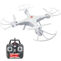 Syma X21W Mini RC Drone with Camera Live Video, 2.4GHz 6-Axis Gyro FPV WiFi App Controlled LED Quadcopter Drone for Kids & Beginners with 3D Flips, Headless Mode, Altitude Hold,White