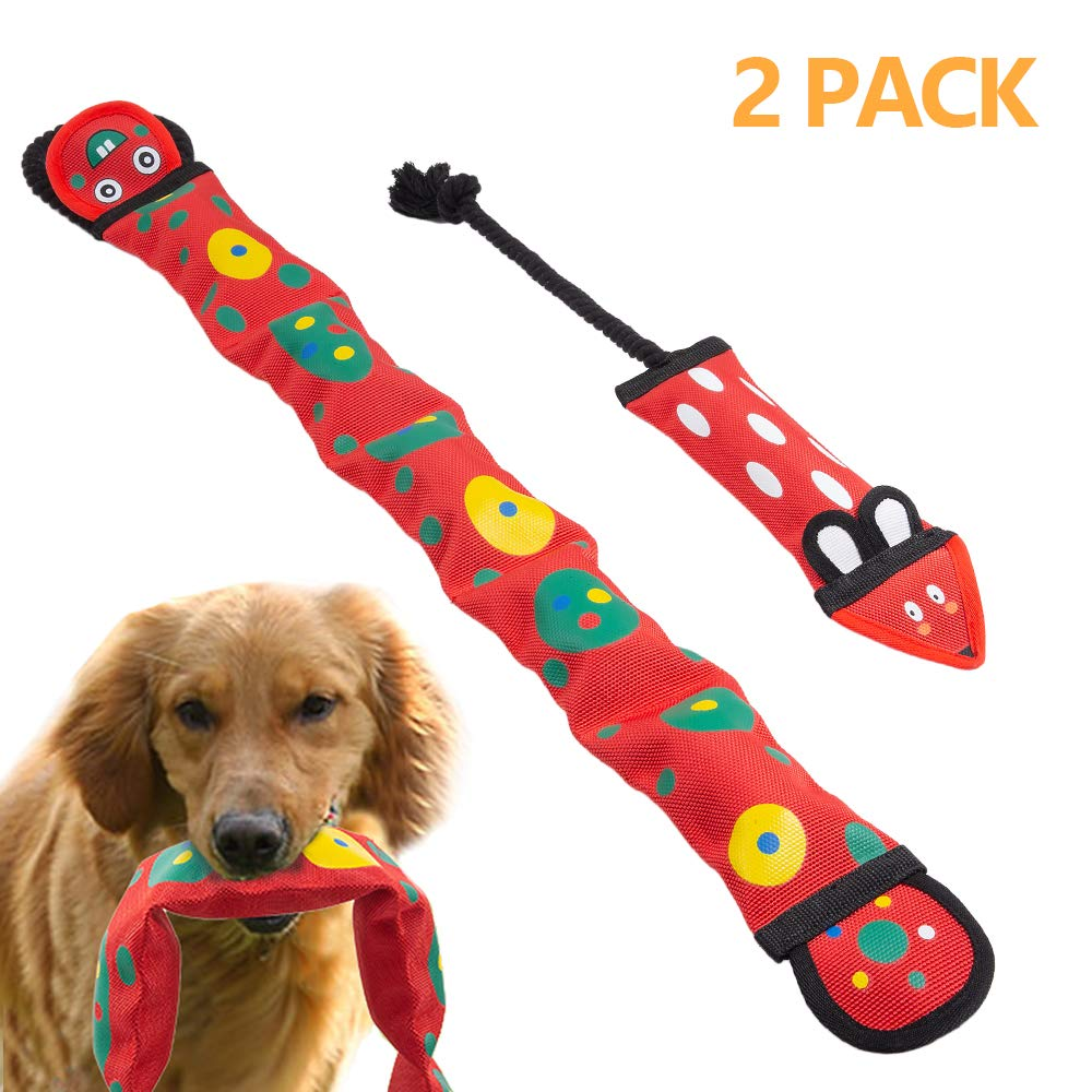 purrrfect life Dog Chew Toys Chew Toys with Rope for Dogs Fire Hose No Stuffing Dog Durable Squeaky Toys