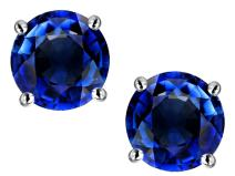 Star K Solid 14k Gold Classic Round 7mm Four Prong Stud Earrings