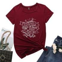 TrendiMax Never Grow Up Shirt Womens Vintage Cute Unisex Tee Shirt Graphic Tops for Women