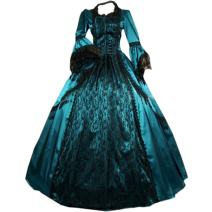 Partiss Women Vintage Floor-Length Gothic Victorian Dress