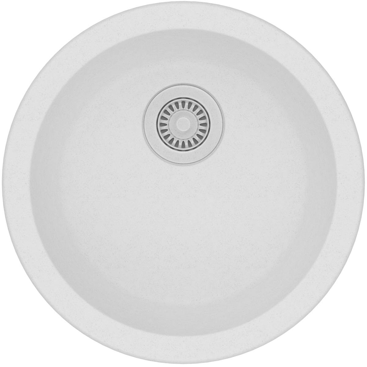 Elkay Quartz Classic ELG16FBWH0 White Single Bowl Dual Mount Bar Sink