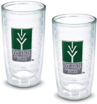 Tervis 1052699 Ivy Tech Cc Emblem Tumbler, Set of 2, 16 oz, Clear