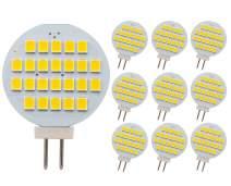 GRV G4 24-2835 SMD LED Bulb Lamp Super Bright Warm White RV Camper Cabinet Dome Light AC/DC12V-24V Pack of 10(3.0Generation)