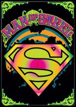 "Ata-Boy DC Comics Darwyn Cook Superman Psychedelic Logo 2.5"" x 3.5"" Magnet for Refrigerators and Lockers"