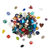 Craftdady 500g Mixed Shapes & Colors Lampwork Glass Beads Loose Beads Fit Most Major Charm Bracelets, 11-29x11-25mm, Hole: 0.5-4mm Random