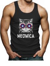 Meowica Tank Top America Patriot Cat 4th of July Men's Singlet